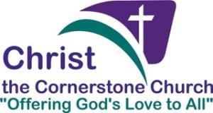 Church Logov with slogan Christ-the-cornerstone-tag-1-