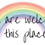 all are welcome rainbow images
